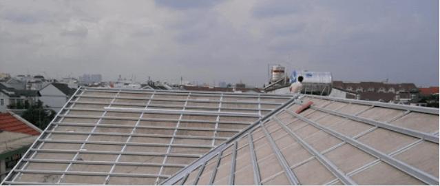 Phương án thi công mái ngói cho nhà mái Thái đẹp với mái sau dán ngói