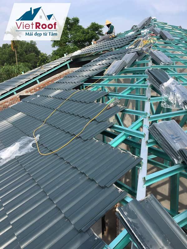 Dịch vụ thi công mái ngói tại Thái Bình