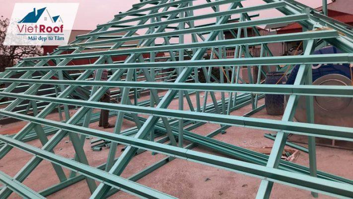 Dịch vụ thi công mái ngói khung kèo thép tại Hà Nam