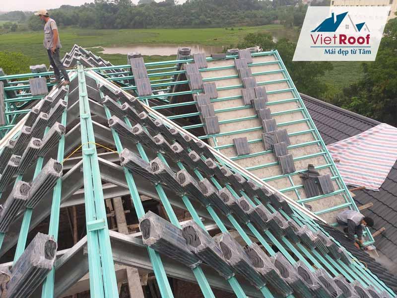 Thi công mái ngói trọn gói tại Bắc Giang