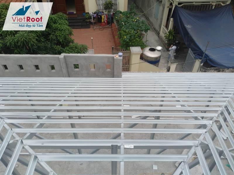 dịch vụ thi công mái ngói khung kèo thép tại Thanh Hóa