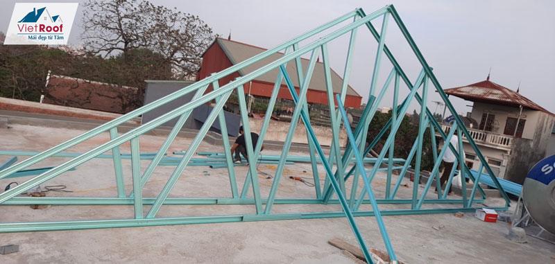 Thi công mái ngói trọn gói tại Hưng Yên