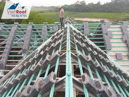 Thi công mái ngói tại Hà Nam